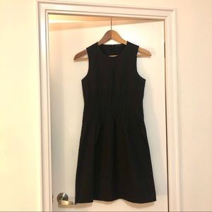 THEORY black cotton sleeveless sheath dress